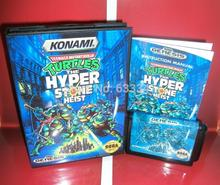 Sega games card – Teenage Mutant Ninja Turtles – The Hyperstone Heist for Sega MegaDrive Video Game Console 16 bit MD card