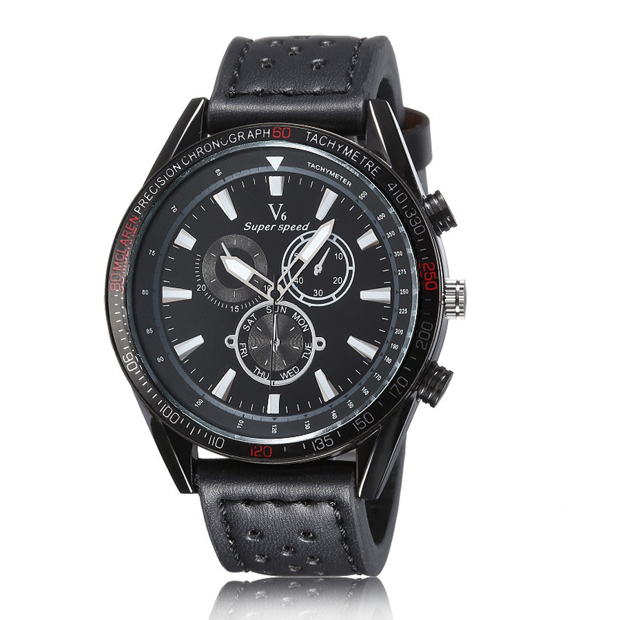 2015 new fashion v6 brand design casual cool clock men women watches Leather belt clock wrist dress quartz watch high quality<br><br>Aliexpress