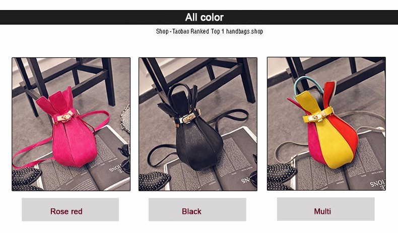 Novel Chic 2016 New Colorful Rucksack Twist Lock Stylish Bottle-shaped Embossing Hand Bag Women Small Designer Shoulder Bag