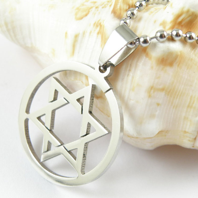 2016 New Fashion Top Quality Stainless Steel Star of David Women/Men Pendant Necklace XL119(China (Mainland))
