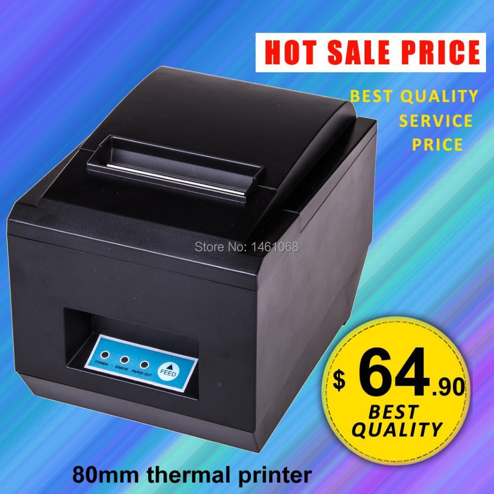 JP-8005 black USB+LAN Port 80mm thermal Receipt pirnter POS printer auto cutter thermal printer, printer thermal 80mm, 300mm/sec(Hong Kong)