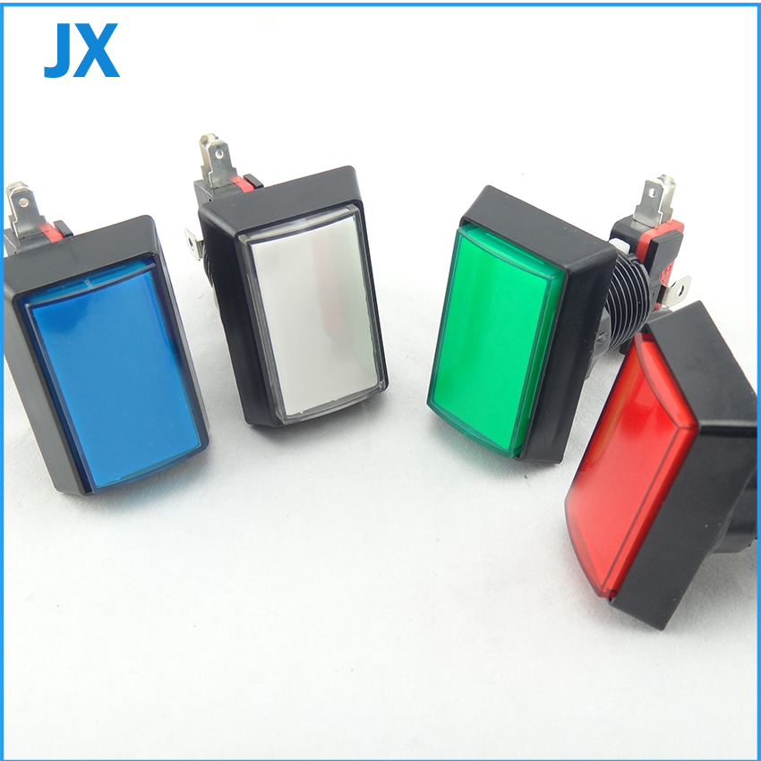 50*33mm Gaminator Push Button Illuminated Rectangle Push Button Slot Game Machine Button 8 coclors(China (Mainland))