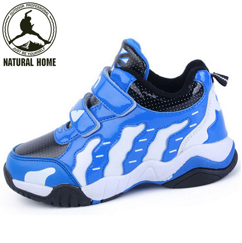 [NaturalHome] Brand Children Sneakers Boys Girls 2016 Fashion Basketball Shoes Kids Foot Protection Sports Sports Footwear Boot(China (Mainland))