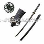 pure hand forged & ground damascus blade fighting sword in retail(China (Mainland))
