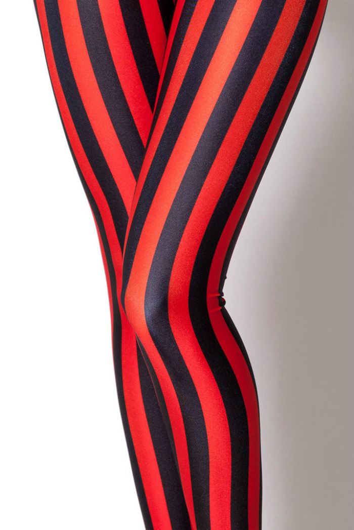 Frauen hose damen schwarz rot streifen-leggings schlank digitaldruck markenkleidung großhandel punk leggings(China (Mainland))