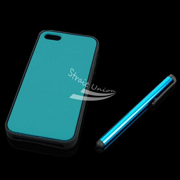 Blue Cell Phone Case Cover Skin Bag Accessory iPhone 5 +Screen Protector&Stylus - Zoe store