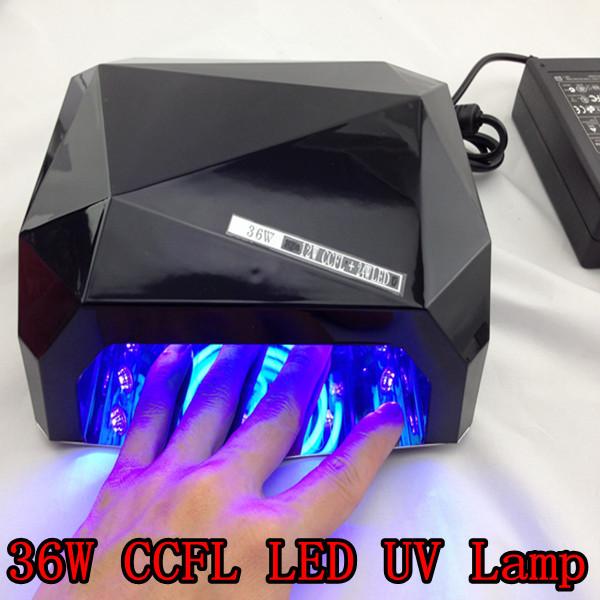 Фотография 2013 New Long Life Diamond CCFL LED UV Lamp 36W Nail UV LED Nail Lamp + Free Shipping