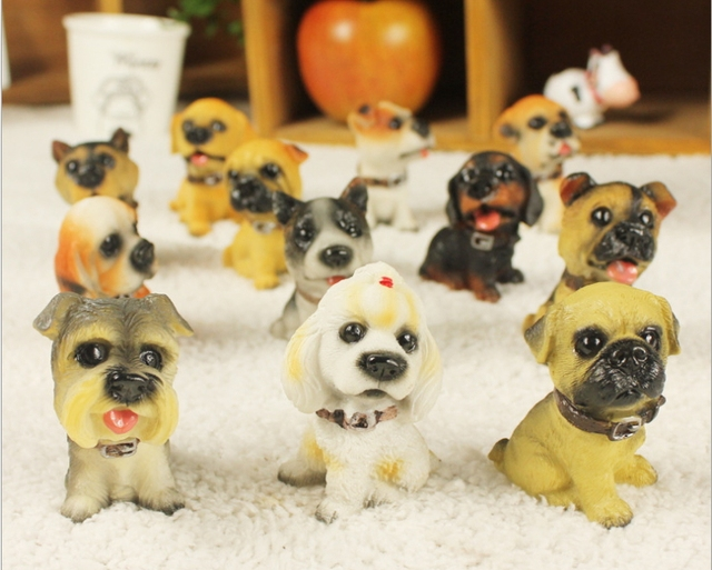Zakka Decoration animal cute dog for doll, kids toy Decoration for home 12 pcs