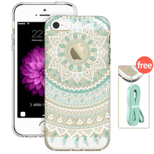 Case for iPhone 5s SE 5, ESR Totem Henna Hybrid case Clear Soft TPU Hard Back Case printed Protective Cover for iPhone SE 5s 5(China (Mainland))