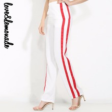 Buy Love&Lemonade White and Red Stitching Slits Straight Pants TB 10013 for $24.83 in AliExpress store