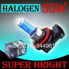 H11 55W 12V Super White Halogen Bulb Fog Lights High Power Car Headlights Lamp Car Light Source parking 6000K auto