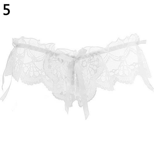 Women Sexy Fashion Lace Briefs Panties Thongs Bowknot G-String Underwear