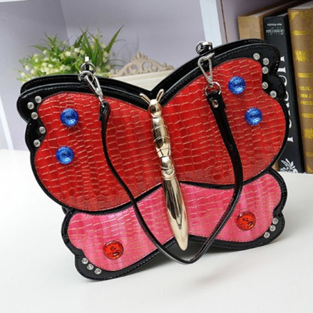 Amliya butterfly shape shoulder bag unique womens handbag personalized animal style tote bag funny party dinner bag casual bag<br><br>Aliexpress