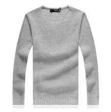 Brand Men Pullover Sweater Large Size Thick Winter Warm Cotton O-Neck Pullovers Mens Hand Knitted Men Sweater 5XL Gray(China (Mainland))
