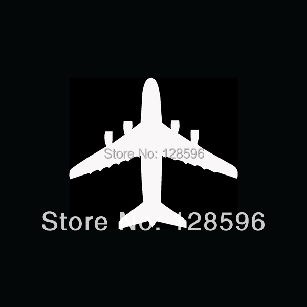 AIRPLANE TOP VIEW Sticker Jet Pilot Fly Land Fighter Aircraft Vinyl for Car Window Decal Fun(China (Mainland))