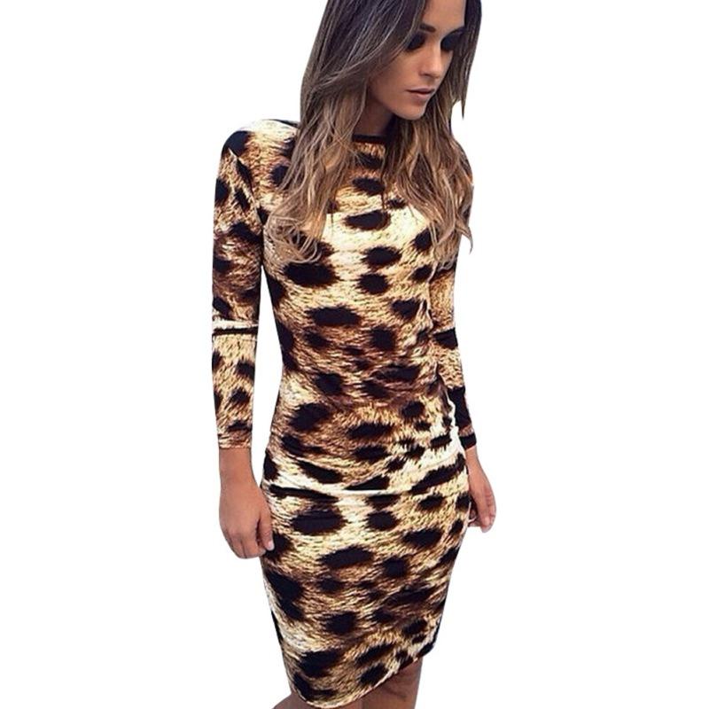 Popular Leopard Bodycon Dress-Buy Cheap Leopard Bodycon Dress lots ...