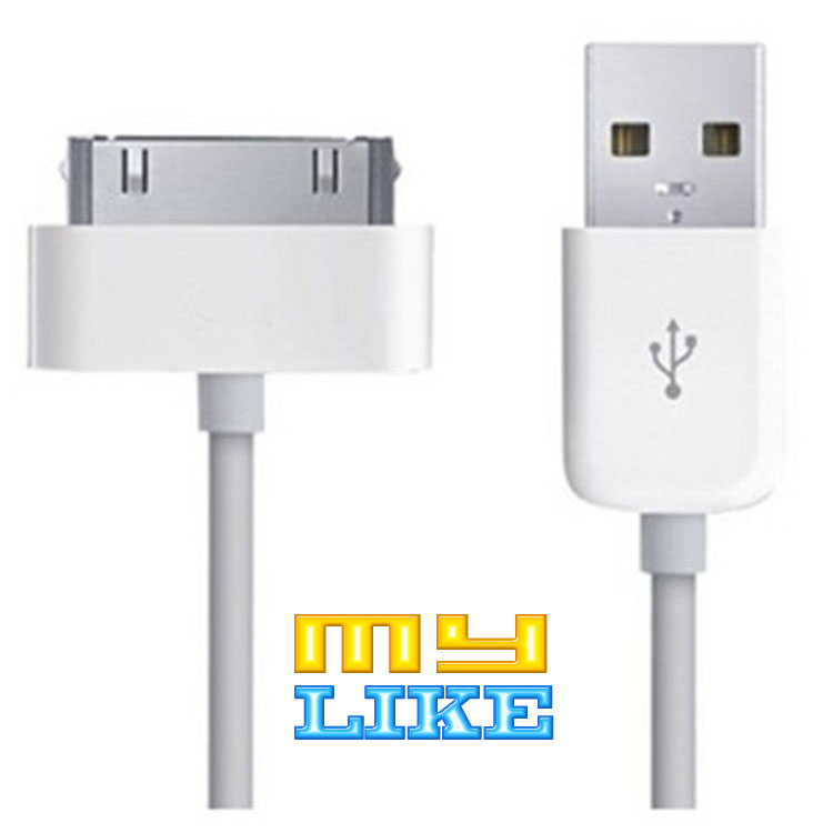 1m USB Sync Data Charging Charger Cable Cord for Apple iPhone 3GS 4 4S 4G for iPad 2 3 for iPod nano touch Adapter free shipping(China (Mainland))