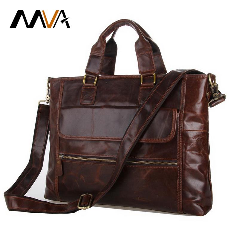 2016 NEW Discount Genuine Leather Handbag Messenger Bag Commercial Briefcase vintage men messenger bags business bag 7212(China (Mainland))