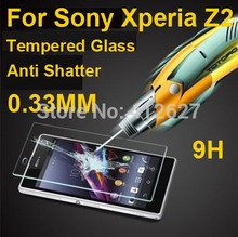 2014 new 0.33mm Premium Tempered Glass Screen Protector Protective Film For Sony Xperia Z2 Screen Protector free shipping