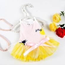 Одежда для домашних животных хлопковое платье для собак с рисунком фруктов милые сиамские физиологические штаны для собак товары для домаш...(China)