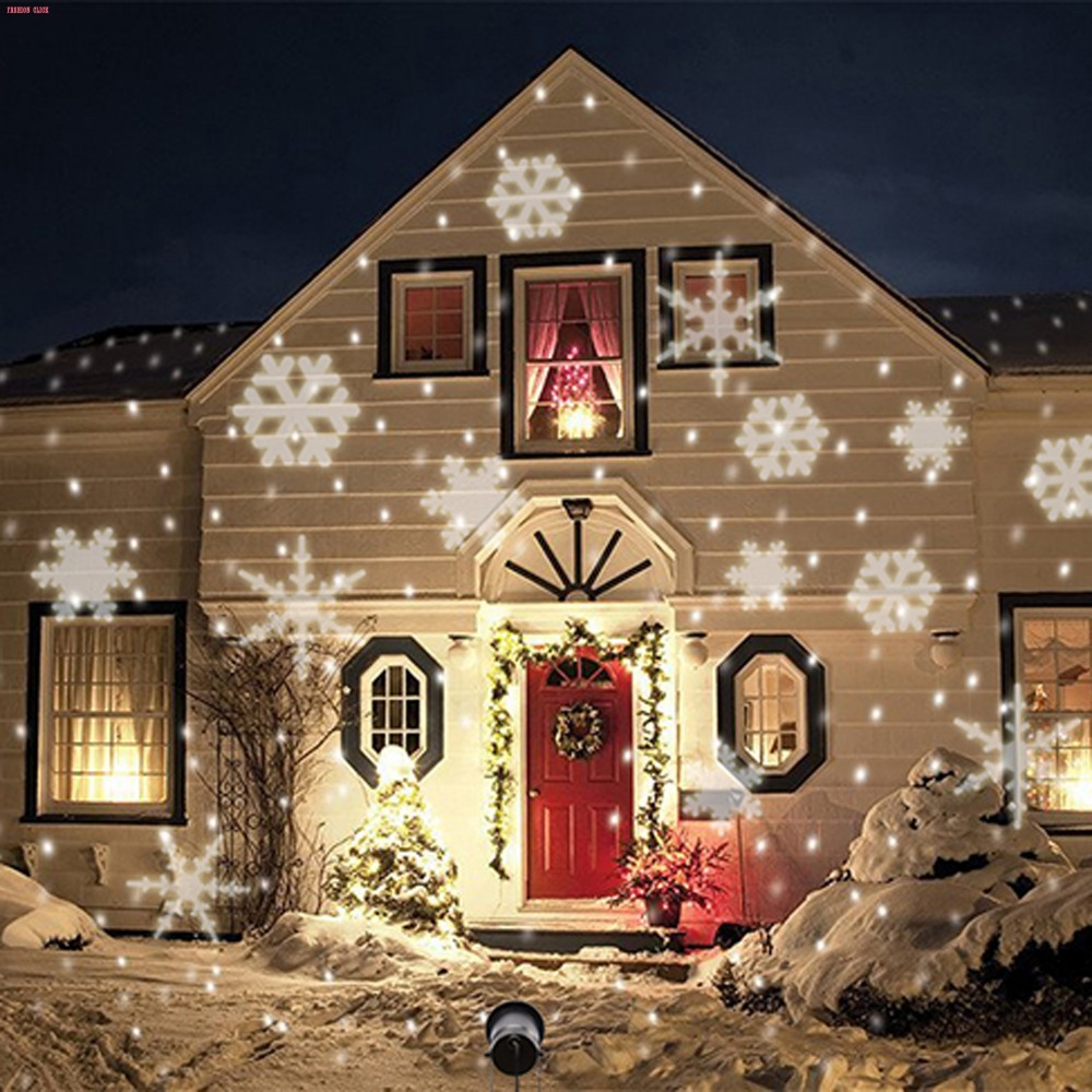 New eu plug led projection light for christmas laser for Decoration maison exterieur noel