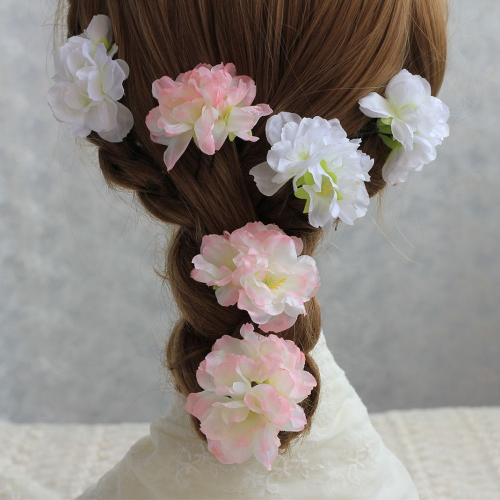 silk peach blossom flower heads fake cherry blossom wedding flowers