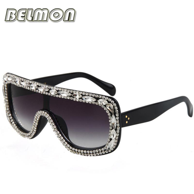 2016 Fashion Luxury Sunglasses Women Brand Designer Rhinestone Frame Sun Glasses For Ladies Vintage UV400 Female Oculos RS010(China (Mainland))