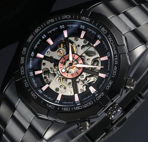2015 New FORSINING Watches Men Luxury Brand Hot Design Military Sports Mechanical Wristwatches Men Full Steel Watch(China (Mainland))