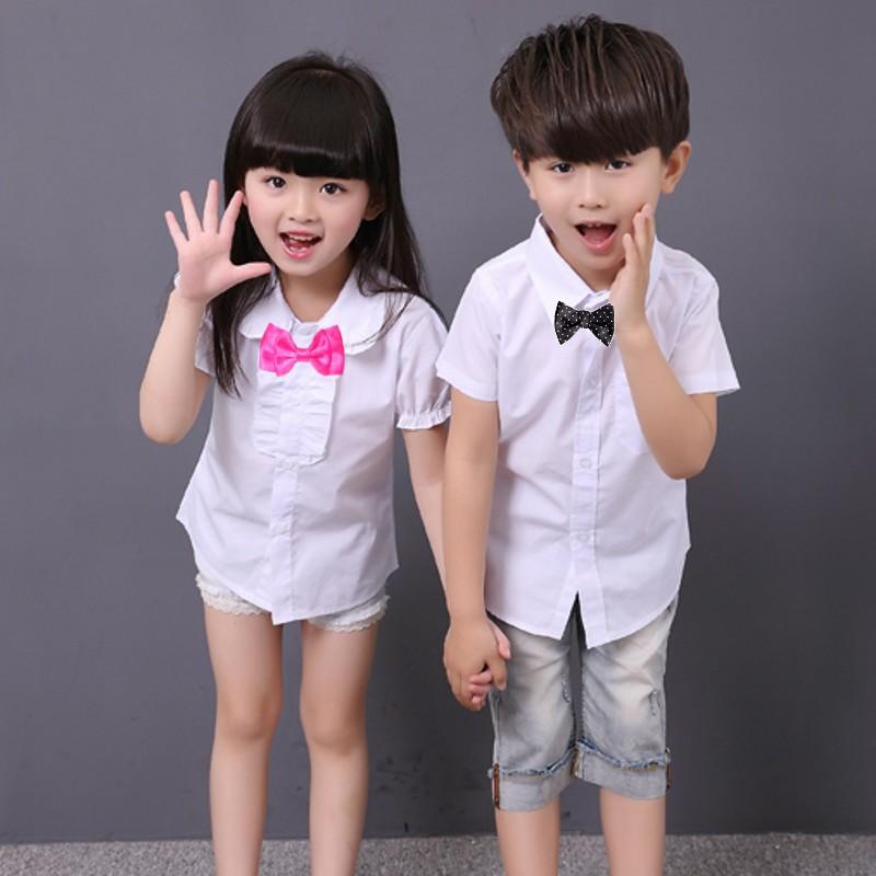 New Boys Shirt And Girls School Blouses White Boys Dress Shirt Camisas Para Ninos Boys Shirts 6BBL106(China (Mainland))
