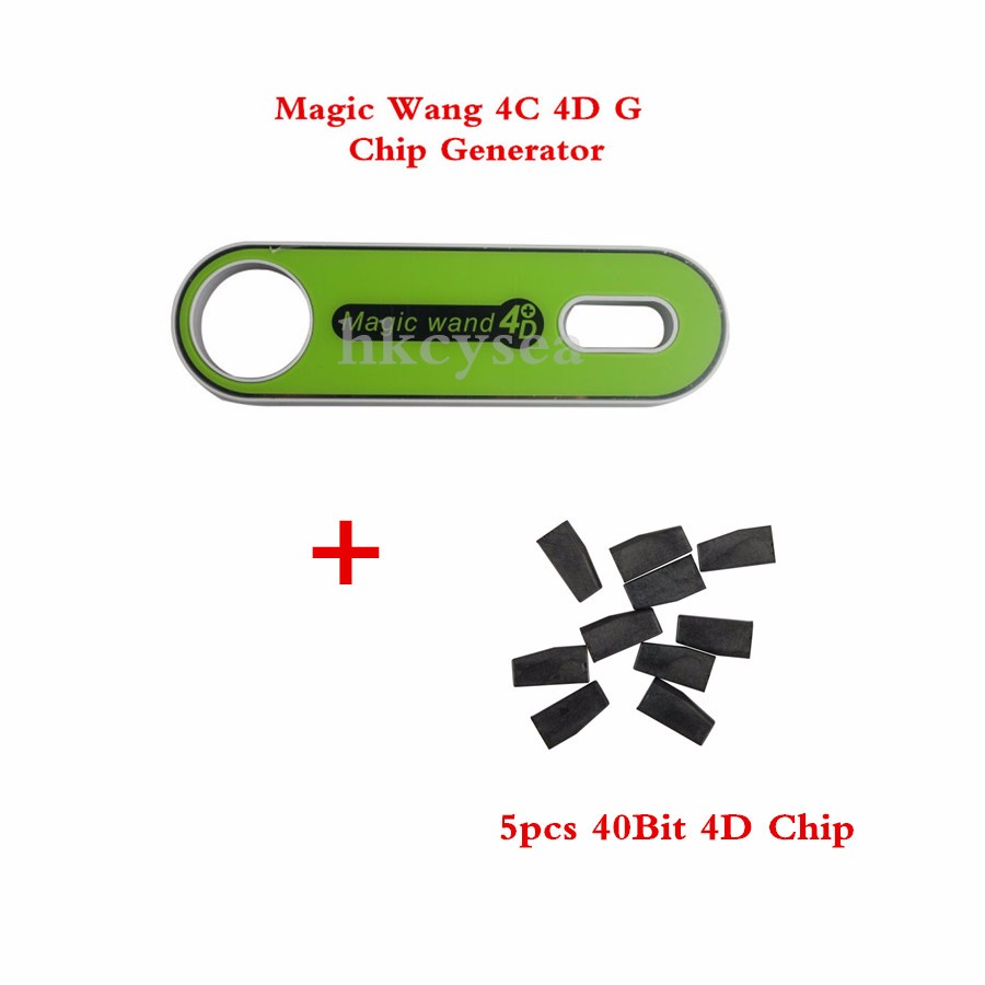 Magic Wand 4C 4D Transponder Chip Generator,G Chip Converter For Mazda/Ford with 5pcs Special 40Bit Small Capacity Copy Chips