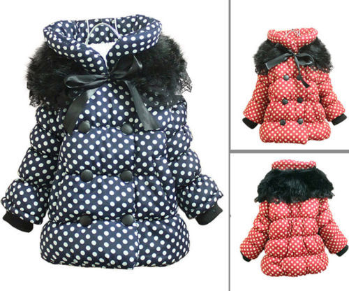 Hot Baby snowsuit for 1-4 years kids girls winter coats outdoor warm jackets(China (Mainland))