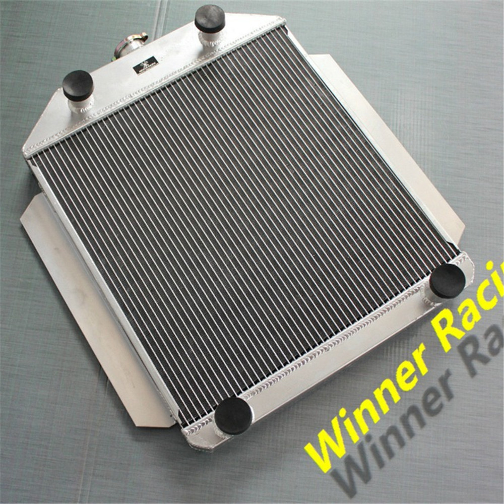 ALUMINUM ALLOY RADIATOR FOR FORD CAR FLATHEAD V8 ENGINE M/T 1949-1953 1950 1951 1952(China (Mainland))
