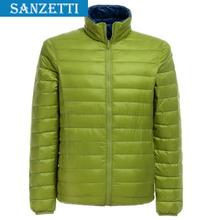 100% white duck down man winter coat fashion down jacket brand hooded sportswear winter jacket men Plus Size S-XXXL SANZETTI