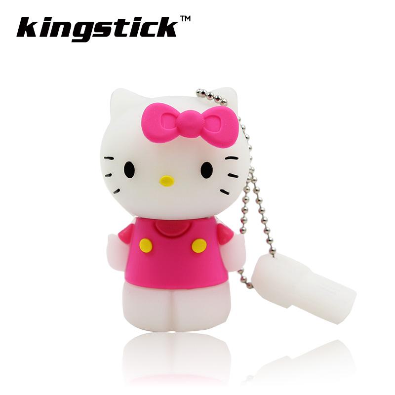 New Design Hello Kitty Image Pen Drive 32gb Pendrive Memory Flash Drive 64gb Udisk Usb Flash Drive 16gb 8GB 4gb Cle Usb 2.0(China (Mainland))