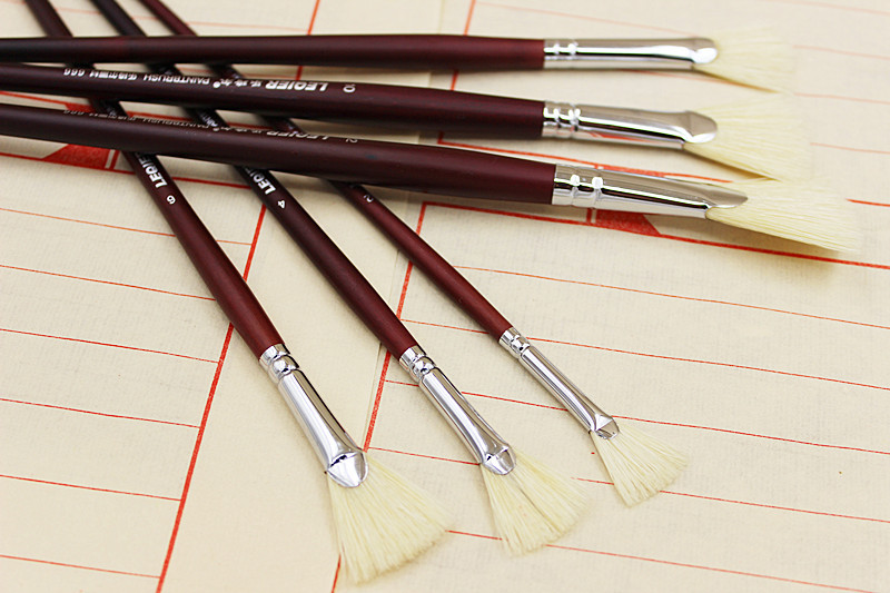7pcs/set high quality Kids Watercolor Gouache Painting Pen pig bristle Wood birch handle Brush Drawing Art Supplies brush(China (Mainland))