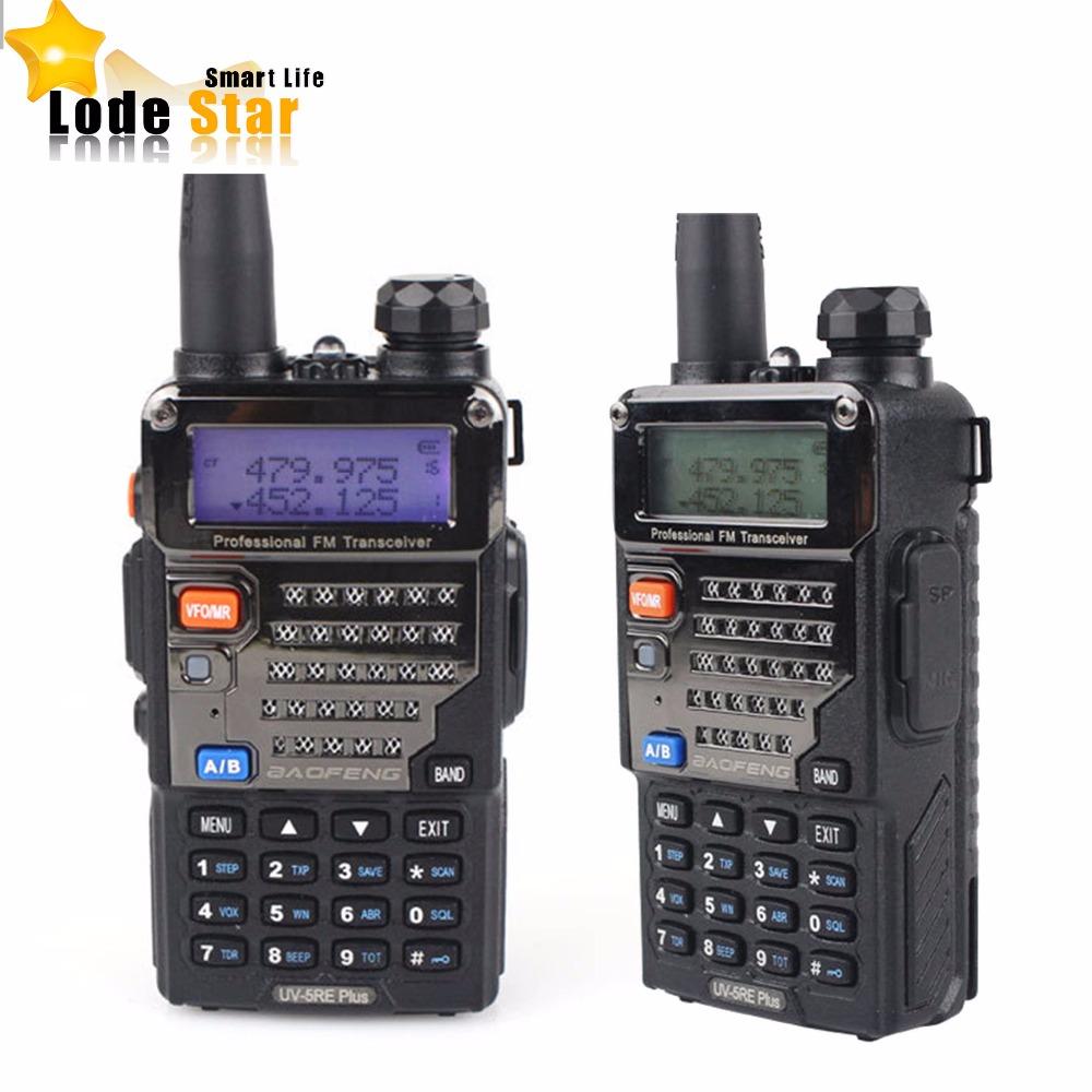 Dual band walkie talkie BAOFENG UV-5RE Plus two way radio 5W 128CH UHF VHF pofung UV5RE FM Radio Handheld Interphone 2pcs/Set(China (Mainland))