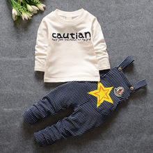 6M-4T Toddler Baby Boy Clothes With Star Pattern Spring Boys Kids Children Clothing Set Suspender Pants Suits 2016 New T135