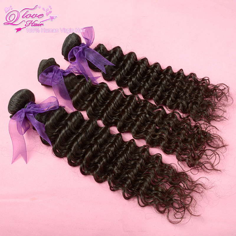 5A Queen love hair products,Malaysia virgin hair,Deep wave curly ,100% unprocessed human Remy hair,300g/lot,Free Shipping<br><br>Aliexpress