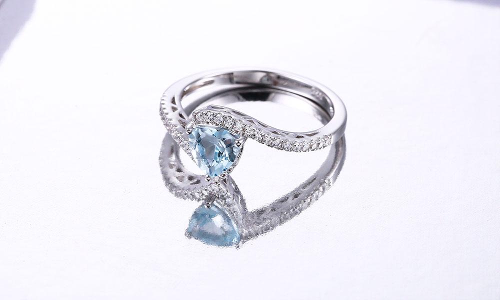 silver blue topaz rings CASR01612SC-1 (4)