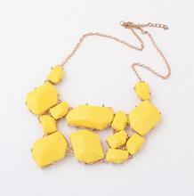 2014 New Wholesale Factory Price Gem Jewelry 4 Colors Women Statement Necklace Vintage Choke Pendants Necklaces 2015 SF11