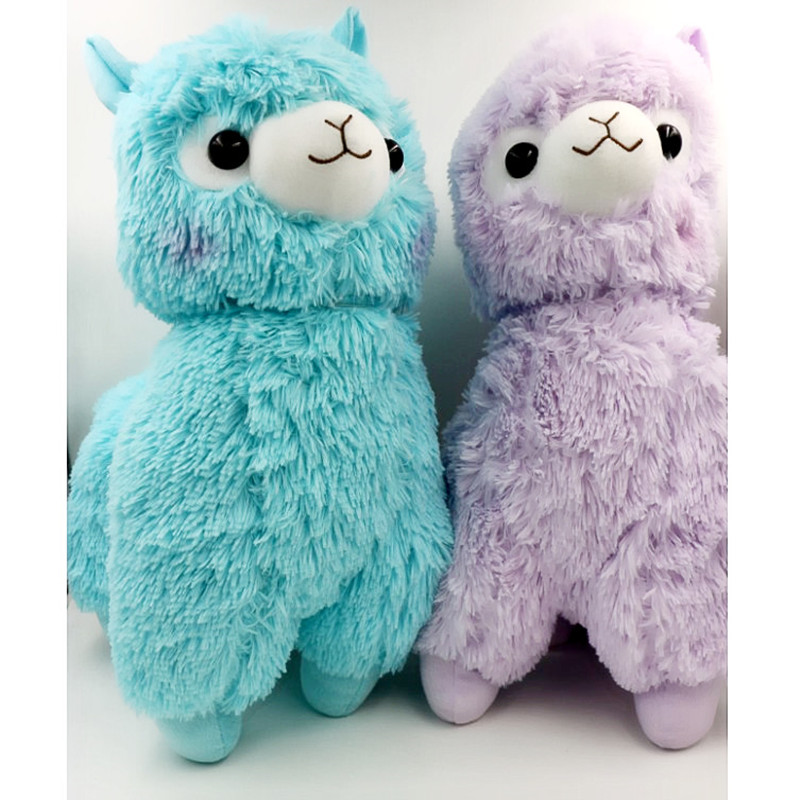 35cm Japanese Alpacasso Soft Toys Doll Giant Stuffed Animals Lama Toy 5 Colors Kawaii Alpaca Plush Kids Christmas Gift L259(China (Mainland))