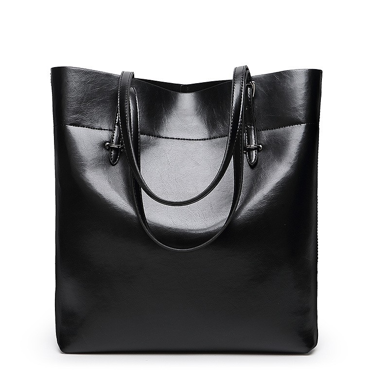 Women Handbag Genuine Leather Shoulder Bag Female Bags Cowhide portable shopping Vintage Large Capacity Tote Ms Bolsos black(China (Mainland))