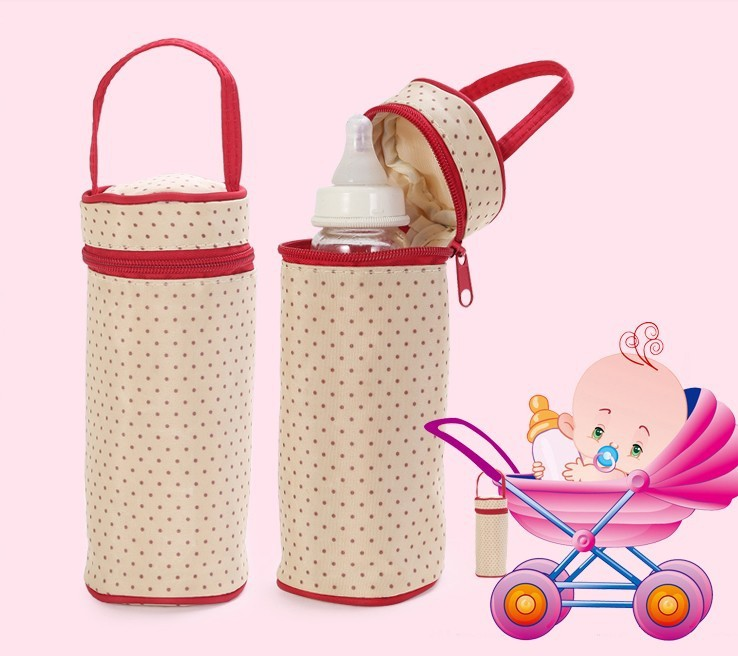 Cute Feeding Nursing Bottle Bottle Thermal Bag Style Broad Caliber Heat Preservation Cloth Bags, Thermal insulation bag(China (Mainland))
