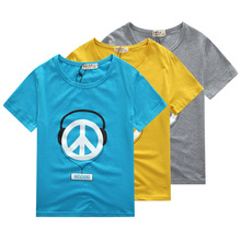 2016 children's clothing male child short-sleeve T-shirt 100% cotton summer child summer t-shirt fashionable casual