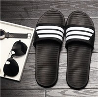 High-quality Gingham Summer Sandals Slipper Shower Room Casual Men Slipper Lovely Stripe Lovers Indoor Home Fashion Men Sandals