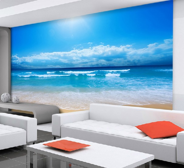 Papel tapiz mural playa compra lotes baratos de papel for Mural pared personalizado
