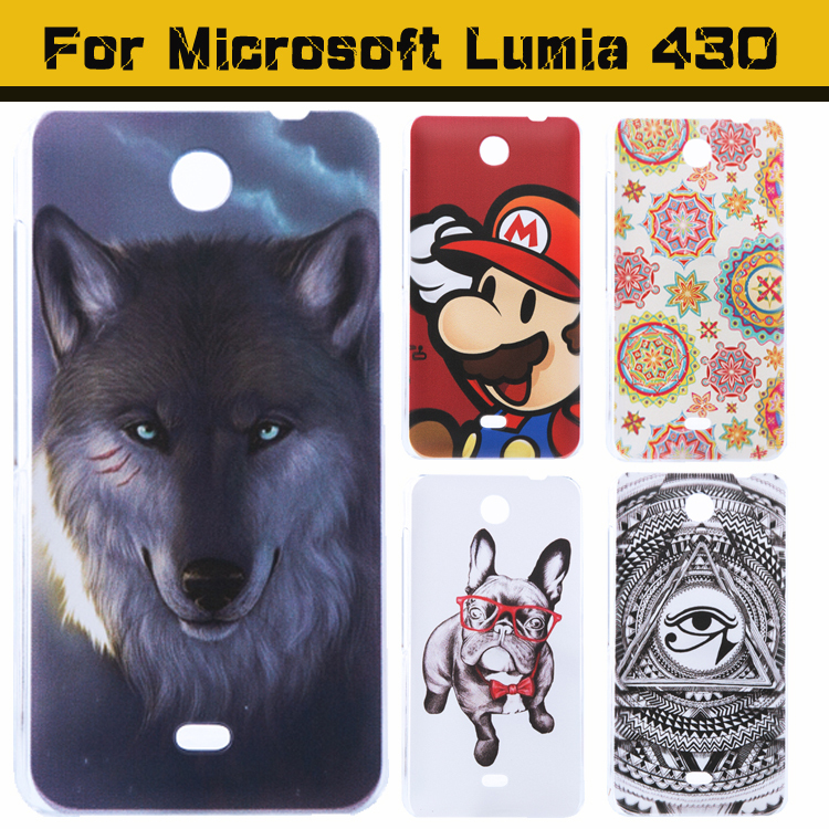 High Quality Ultra thin slim Painted Cute Lovely Cartoon UV Print Hard Cover Case For Microsoft Nokia lumia 430 Case Cover(China (Mainland))