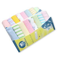 Free Shipping 8PCS New Soft Baby Boy Girl Kids Children Newborn Infant Toddlers Bath Towels Washcloth Wipe Clean Face Nursing