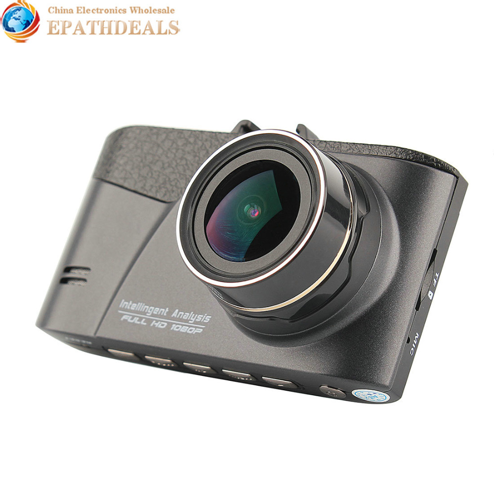 HD 1080P 170 Degree Rotatable Car DVR WDR Night Vision Camera G-Sensor Collision System Camcorder with 3 Inch Lens <br><br>Aliexpress