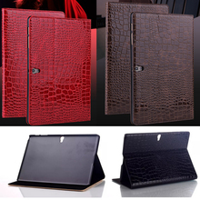 pen+Film + luxury Fashion crocodile leather Smart Stand cover case for samsung galaxy Tab S T800 T805 10.5 inch Tablet cases